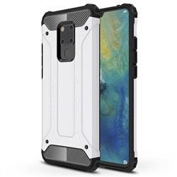 King Kong Armor Premium Shockproof Dual Layer Rugged Hard Cover for Huawei Mate 20 X - White