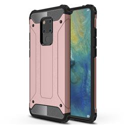 King Kong Armor Premium Shockproof Dual Layer Rugged Hard Cover for Huawei Mate 20 X - Rose Gold