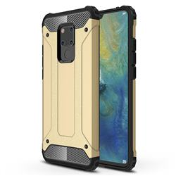 King Kong Armor Premium Shockproof Dual Layer Rugged Hard Cover for Huawei Mate 20 X - Champagne Gold