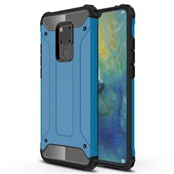 King Kong Armor Premium Shockproof Dual Layer Rugged Hard Cover for Huawei Mate 20 X - Sky Blue