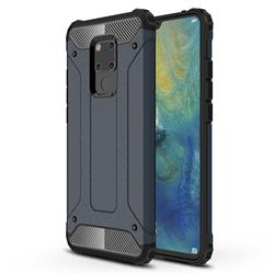 King Kong Armor Premium Shockproof Dual Layer Rugged Hard Cover for Huawei Mate 20 X - Navy