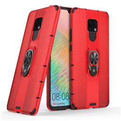 Alita Battle Angel Armor Metal Ring Grip Shockproof Dual Layer Rugged Hard Cover for Huawei Mate 20 X - Red