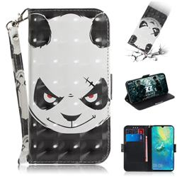 Angry Bear 3D Painted Leather Wallet Phone Case for Huawei Mate 20 X