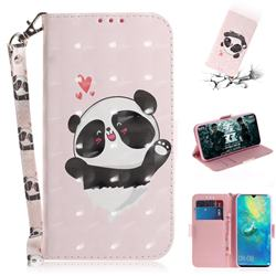 Heart Cat 3D Painted Leather Wallet Phone Case for Huawei Mate 20 X