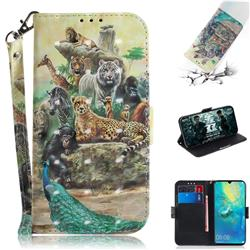 Beast Zoo 3D Painted Leather Wallet Phone Case for Huawei Mate 20 X