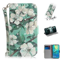 Watercolor Flower 3D Painted Leather Wallet Phone Case for Huawei Mate 20 X
