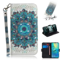 Peacock Mandala 3D Painted Leather Wallet Phone Case for Huawei Mate 20 X