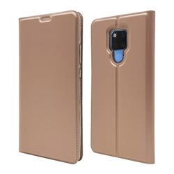 Ultra Slim Card Magnetic Automatic Suction Leather Wallet Case for Huawei Mate 20 X - Rose Gold