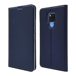 Ultra Slim Card Magnetic Automatic Suction Leather Wallet Case for Huawei Mate 20 X - Royal Blue
