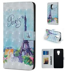 Paris Tower 3D Painted Leather Phone Wallet Case for Huawei Mate 20 X