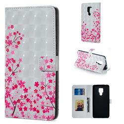 Cherry Blossom 3D Painted Leather Phone Wallet Case for Huawei Mate 20 X