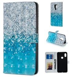 Sea Sand 3D Painted Leather Phone Wallet Case for Huawei Mate 20 X