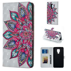 Mandara Flower 3D Painted Leather Phone Wallet Case for Huawei Mate 20 X