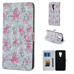 Roses Flower 3D Painted Leather Phone Wallet Case for Huawei Mate 20 X