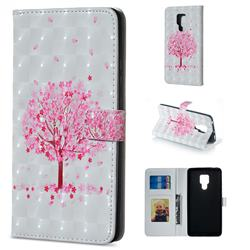 Sakura Flower Tree 3D Painted Leather Phone Wallet Case for Huawei Mate 20 X