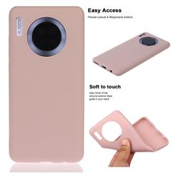 Soft Matte Silicone Phone Cover for Huawei Mate 30 - Lotus Color