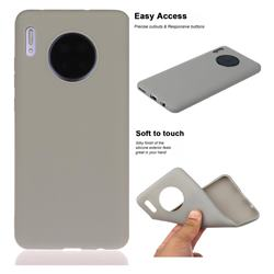 Soft Matte Silicone Phone Cover for Huawei Mate 30 - Gray