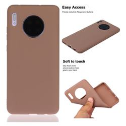 Soft Matte Silicone Phone Cover for Huawei Mate 30 - Khaki