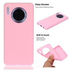 Soft Matte Silicone Phone Cover for Huawei Mate 30 - Rose Red