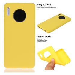 Soft Matte Silicone Phone Cover for Huawei Mate 30 - Yellow