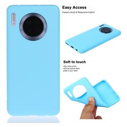 Soft Matte Silicone Phone Cover for Huawei Mate 30 - Sky Blue