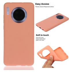 Soft Matte Silicone Phone Cover for Huawei Mate 30 - Coral Orange