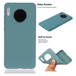 Soft Matte Silicone Phone Cover for Huawei Mate 30 - Lake Blue