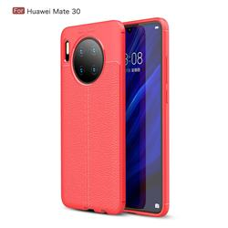 Luxury Auto Focus Litchi Texture Silicone TPU Back Cover for Huawei Mate 30 - Red