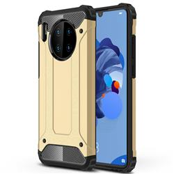 King Kong Armor Premium Shockproof Dual Layer Rugged Hard Cover for Huawei Mate 30 - Champagne Gold
