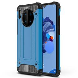 King Kong Armor Premium Shockproof Dual Layer Rugged Hard Cover for Huawei Mate 30 - Sky Blue
