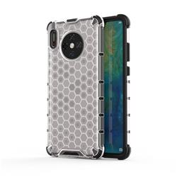 Honeycomb TPU + PC Hybrid Armor Shockproof Case Cover for Huawei Mate 30 - Transparent