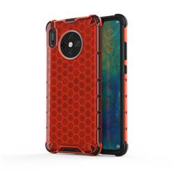 Honeycomb TPU + PC Hybrid Armor Shockproof Case Cover for Huawei Mate 30 - Red