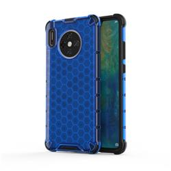 Honeycomb TPU + PC Hybrid Armor Shockproof Case Cover for Huawei Mate 30 - Blue