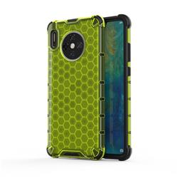 Honeycomb TPU + PC Hybrid Armor Shockproof Case Cover for Huawei Mate 30 - Green