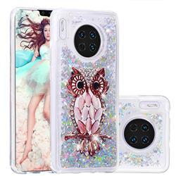 Seashell Owl Dynamic Liquid Glitter Quicksand Soft TPU Case for Huawei Mate 30