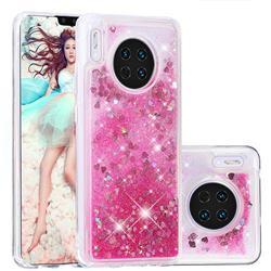 Dynamic Liquid Glitter Quicksand Sequins TPU Phone Case for Huawei Mate 30 - Rose