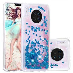 Dynamic Liquid Glitter Quicksand Sequins TPU Phone Case for Huawei Mate 30 - Blue