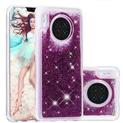 Dynamic Liquid Glitter Quicksand Sequins TPU Phone Case for Huawei Mate 30 - Purple