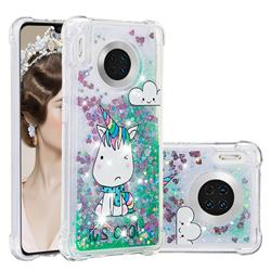Tiny Unicorn Dynamic Liquid Glitter Sand Quicksand Star TPU Case for Huawei Mate 30