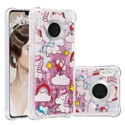 Angel Pony Dynamic Liquid Glitter Sand Quicksand Star TPU Case for Huawei Mate 30