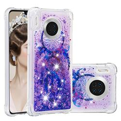 Retro Wind Chimes Dynamic Liquid Glitter Sand Quicksand Star TPU Case for Huawei Mate 30