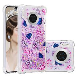 Diamond Dynamic Liquid Glitter Sand Quicksand Star TPU Case for Huawei Mate 30