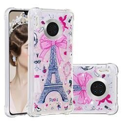 Mirror and Tower Dynamic Liquid Glitter Sand Quicksand Star TPU Case for Huawei Mate 30