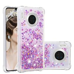 Dynamic Liquid Glitter Sand Quicksand Star TPU Case for Huawei Mate 30 - Rose