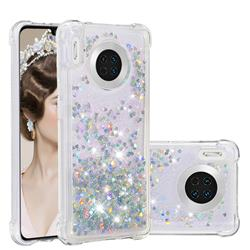 Dynamic Liquid Glitter Sand Quicksand Star TPU Case for Huawei Mate 30 - Silver