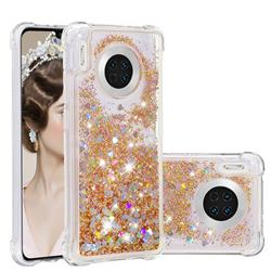 Dynamic Liquid Glitter Sand Quicksand Star TPU Case for Huawei Mate 30 - Diamond Gold