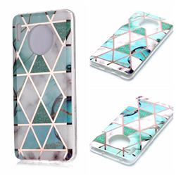 Green White Galvanized Rose Gold Marble Phone Back Cover for Huawei Mate 30