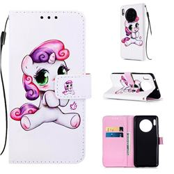 Playful Pony Matte Leather Wallet Phone Case for Huawei Mate 30