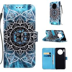Underwater Mandala Matte Leather Wallet Phone Case for Huawei Mate 30