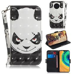 Angry Bear 3D Painted Leather Wallet Phone Case for Huawei Mate 30